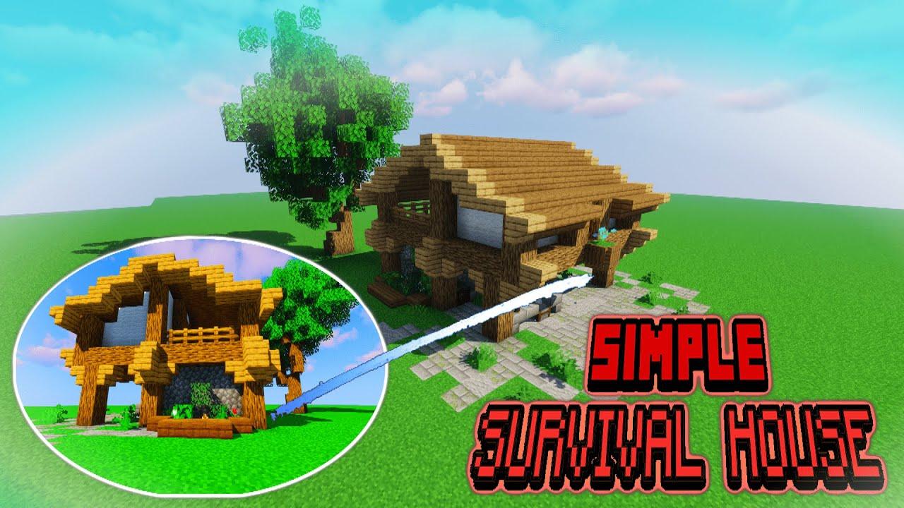 Simple Survival House Minecraft Building Tutorial