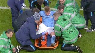 De Bruyne horrible injury vs Everton 27/1/2016