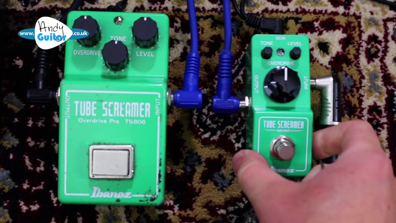 Tube Screamer VS Mini Tube Screamer (Ibanez TS808) Review & Demo