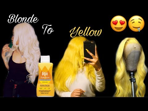How To Dye Your Blonde Synthetic Wig YELLOW💛