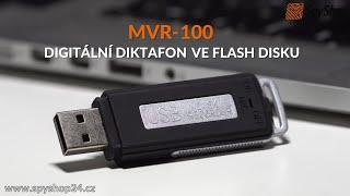 Špionážní diktafon ve flash disku MVR-100 pro skrytý odposlech