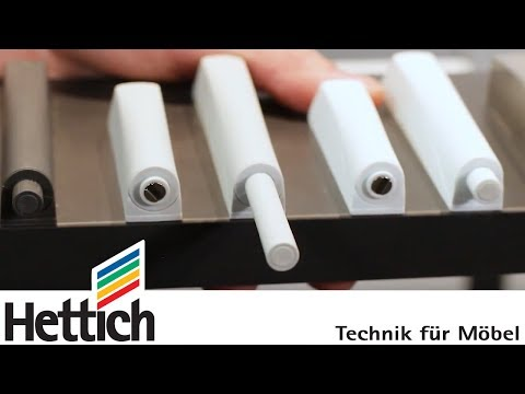 Push to open for hinges: technical briefing by Hettich - YouTube