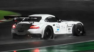 BMW Z4 GT3 V8 Symphony at Adria Raceway + Night OnBoard & Slippery Conditions