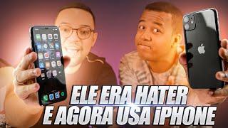 Gambar cover ELE ERA HATER DA APPLE e AGORA USA UM... iPHONE!!! POR QUE??