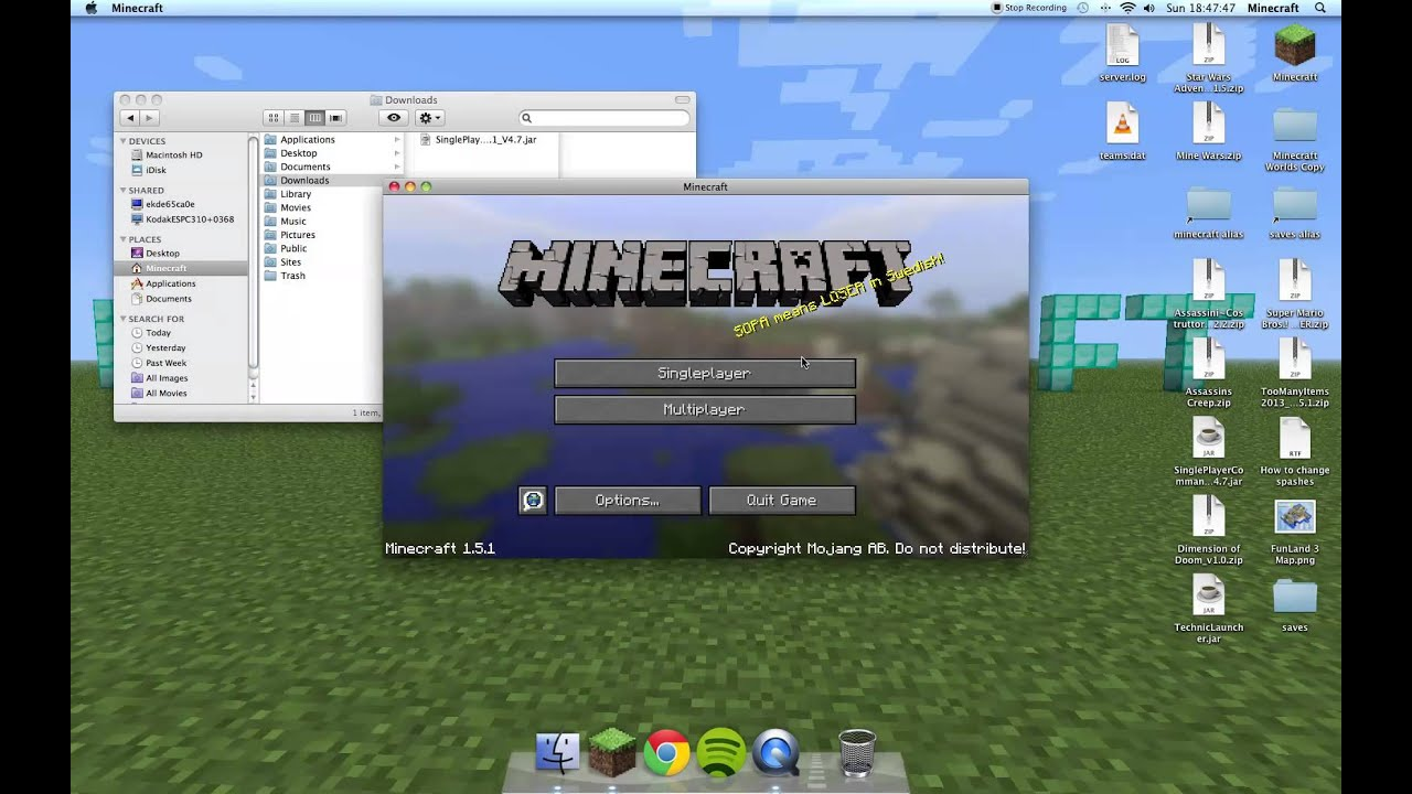 Minecraft 1. 1 how to download and install single player commands.
