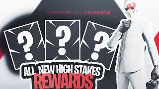The NEW *HIGH STAKES* CHALLENGE REWARDS in Fortnite! (High Stakes Challenges)
