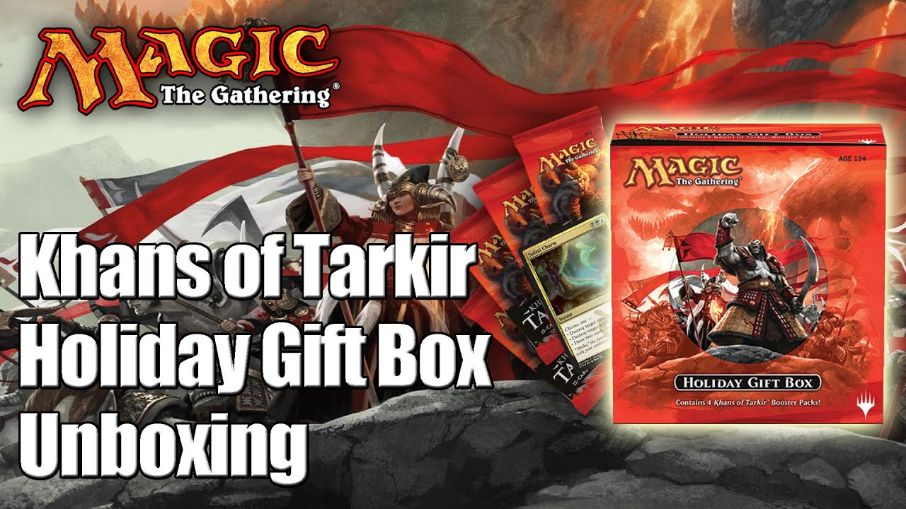 MTG - Khans of Tarkir Holiday Gift Box 2014 - YouTube