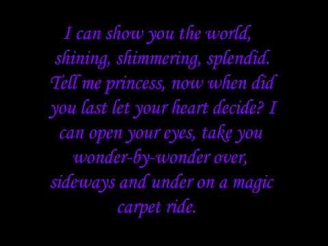 The Songs of the Disney Princesses (Lyrics) - YouTube