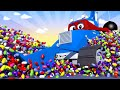The CONSTRUCTION TRUCK - Carl the Super Truck - Car City & Monster Town ! Cars and Trucks Cartoon