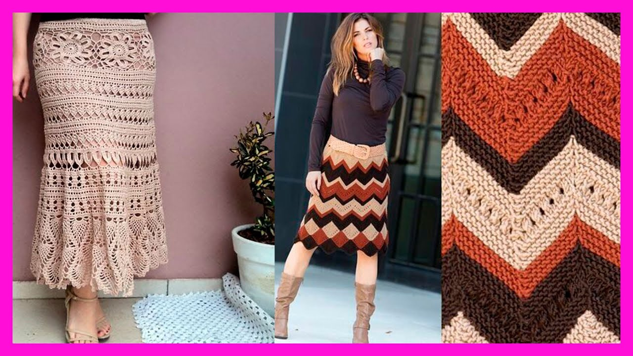 Ideas de Faldas tejidas para dama