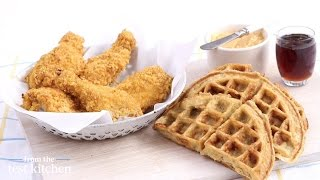 Oven-fried Chicken And Buttermilk Oat Waffles - From The Test Kitchen