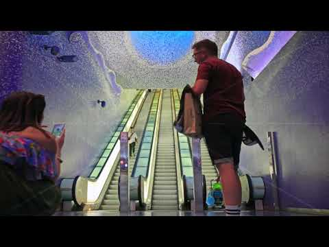 Toledo station Naples, Italy - Time-lapse