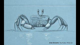 Cómo dibujar un cangrejo fantasma - Muy fácil, narrado