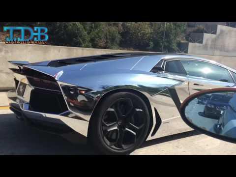 Chrome Lamborghini Aventador build for Travis Scott video