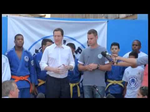 Fight for Peace in Rio receives George Osborne, Chancellor of the Exchequer