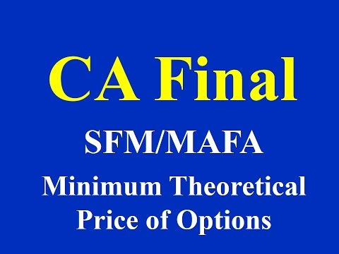 CA Final SFM/MAFA- Minimum Theoretical Price of Options-
