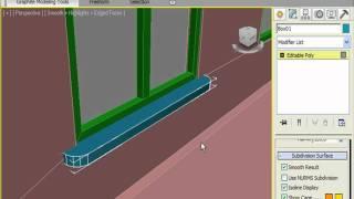 Создаем подоконник и занавеску в 3DS Max (11/32)