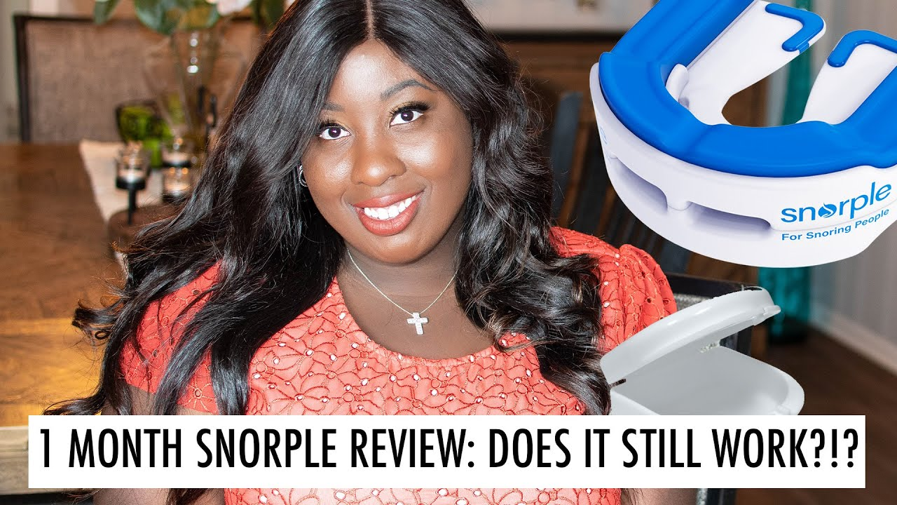 STOP SNORING WITH SNORPLE | 1 MONTH UPDATE!