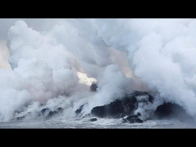 Alerta en Hawái: la lava del volcán Kilauea llega al océano