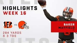 Baker Mayfield's Triple-TD Day vs. Bengals