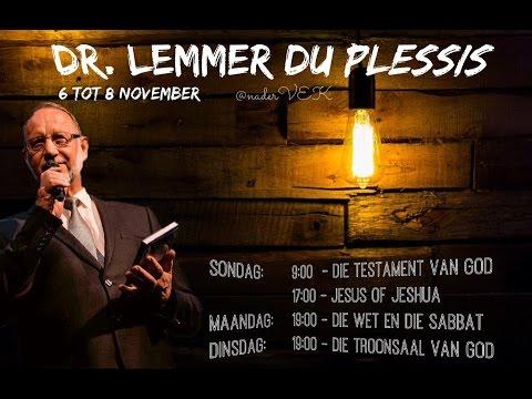 2016-11-06 Dr Lemmer du Plessis - Jesus of Jeshua