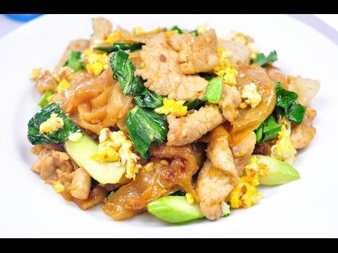 Thai Soy Sauce Fried Noodles - ผัดซีอิ้ว (Pad See Ew) [4K]