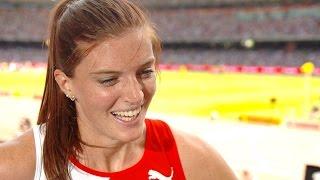 WHC 2015 Beijing - Lea Sprunger SUI 400m Hurdles Heat 2