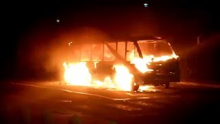 UCT Jammie Shuttle bus on fire (16 February)
