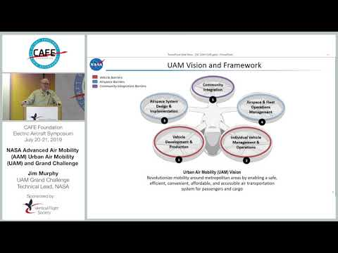 CAFE EAS 2019 #17 - Jim Murphy - NASA Advance Air Mobility, Urban Air Mobility And Grand Challenge