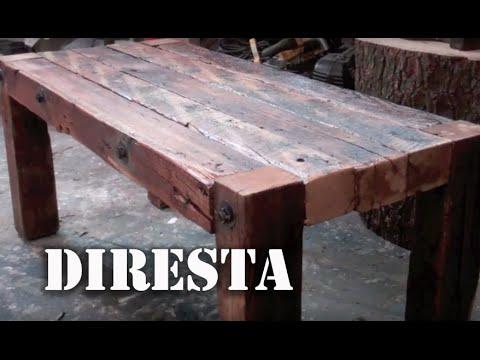 Diresta Reclaimed Wood Table  Youtube