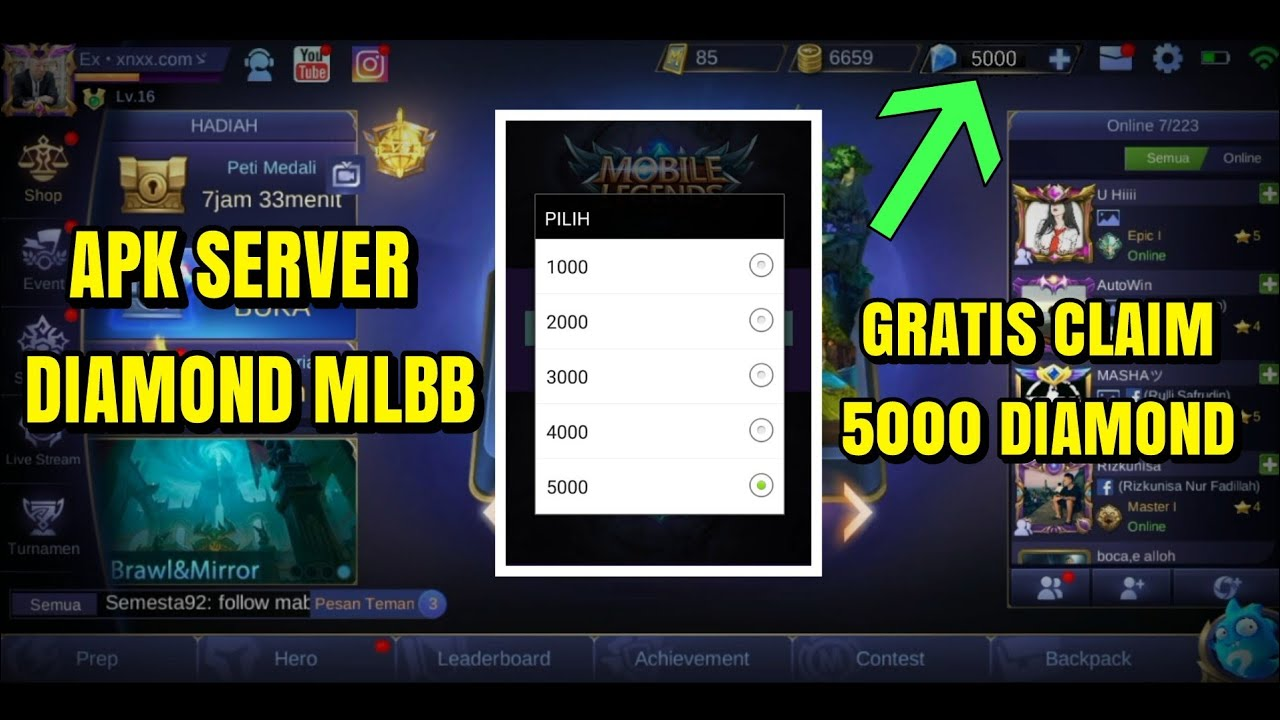 APK MOD SERVER DIAMOND MOBILE LEGENDS  #Smartphone #Android