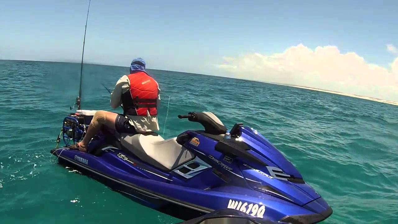 Jet ski fishing fraser island nov 2014 youtube for Fishing jet ski