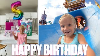 HAPPY BIRTHDAY HAZYL BINGHAM | FIVE-YEAR-OLD SPENDS BIRTHDAY AT EPIC WATER PARK | INSANE WATER SLIDE
