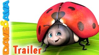 🐞 Five Little Ladybugs – Trailer | Nursery Rhymes and Kids Songs from Dave and Ava 🐞