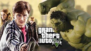 HARRY POTTER vs HULK in GTA 5! Mod Gameplay!