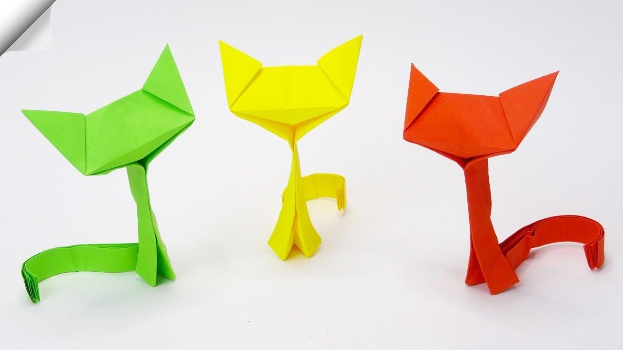Easy Origami Cat Tutorial - Designed by Keiji Kitamura - YouTube | 720x1280