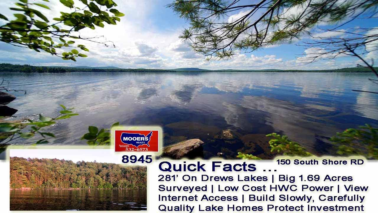 Land On A Lake In Maine   Waterfront Real Estate For Sale MOOERS REALTY #8945