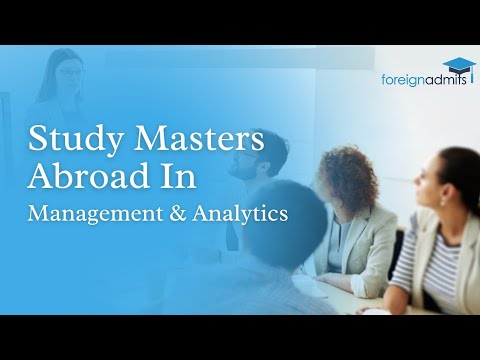 "A Masterclass on ""All about Studying Masters in Management & Analytics from Abroad"""