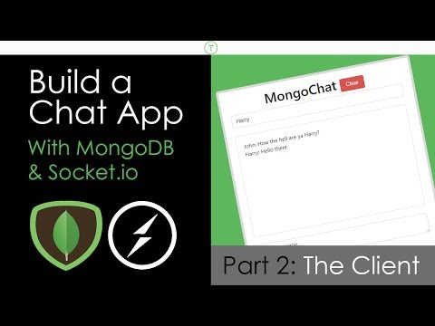 Build A Chat App With MongoDB & Socket.io [Part 2]