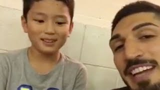 Enes Kanter Tells INNOCENT CHILD To Burn Kevin Durant's Clothes!