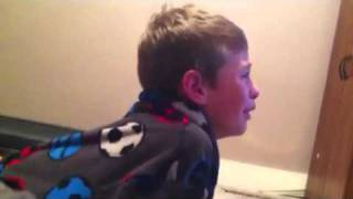 Kid crying over losing video game!!