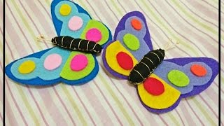 Butterfly..terbanglah tinggi... hai crafter..yuk bikin kupu yang lucu dari kain flanel.. dan untuk pengen tahu lebih banyak tentang tutorial tutori...