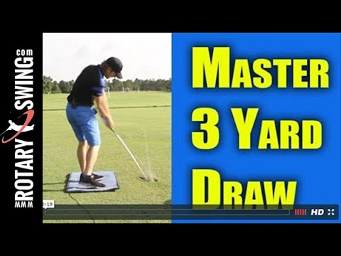 Golf Warm Up to Hit a Draw - 60 SECOND GOLF TIPS FROM ROTARYSWING.COM