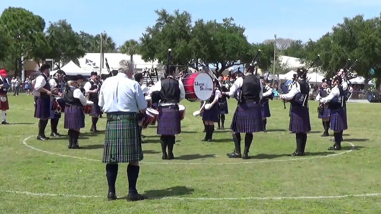 Ulster Scottish Pipe Band Msr Dunedin Highland Games