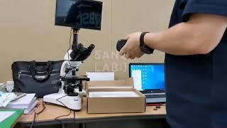 동원모니터현미경 디지털 현미경 모니터 장착 및 구동영상