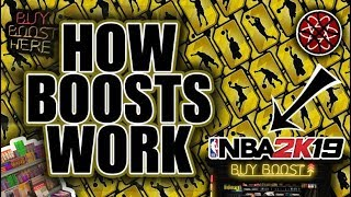 How boosts work in Nba2k19