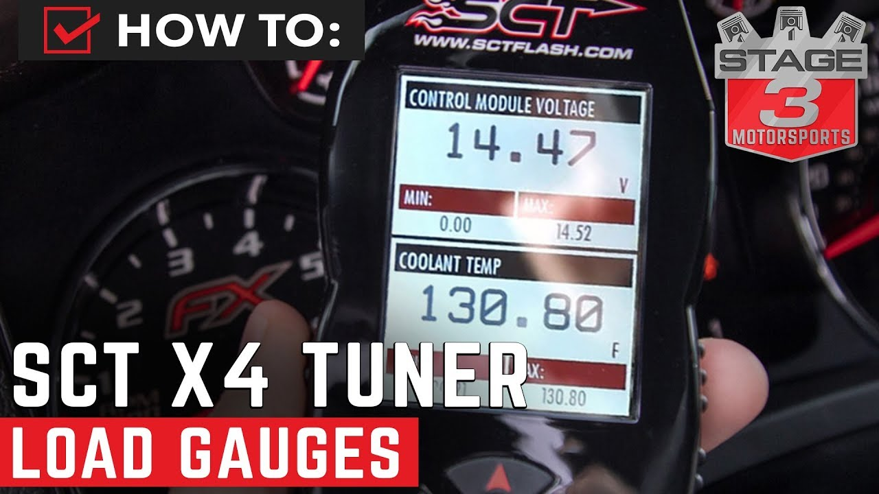How to Load Electronic Gauges On SCT X4 Tuning Device