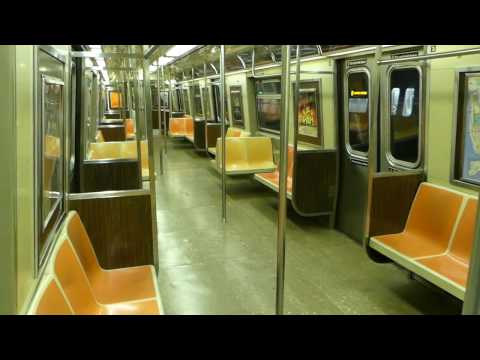 BMT 4th Ave Line: On Board: R46 R Shuttle Exp Train from Bay Ridge Ave to 36th St (Late Night)