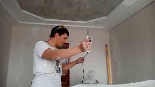 как сделать потолок из пенопласта