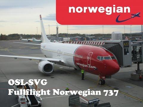 Norwegian 737-800 Oslo-Stavanger full flight